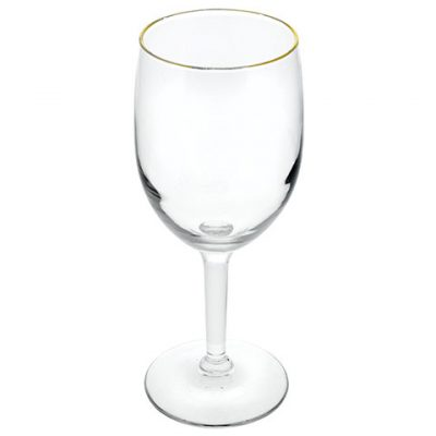 Gold-Rimmed Wine Glasses – 10.25 oz.