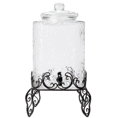 Drink Dispensers on White Iron Stand (5 Gallon)