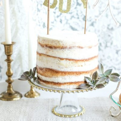 Clear Cake Stand With Gold Beaded Rim