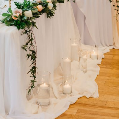 Sheer White Table Linen