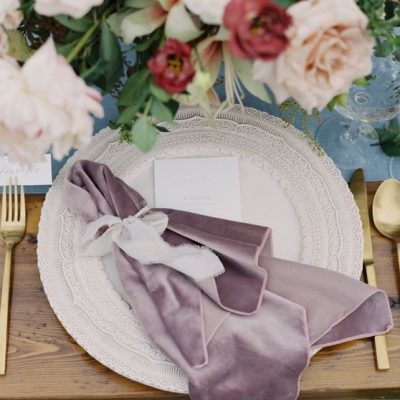 Dusty Mauve Plush Velvet Napkins