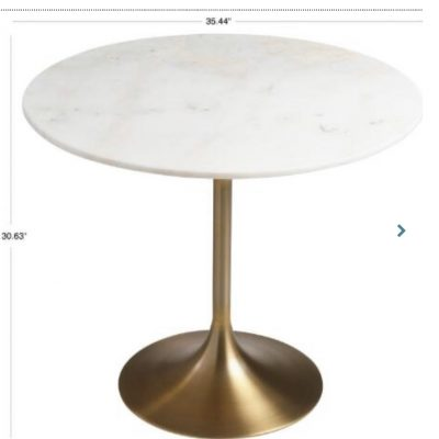 Marble and Gold Round Table