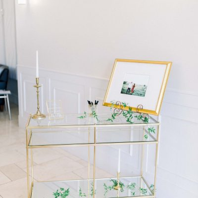 Gold & Glass Side Table